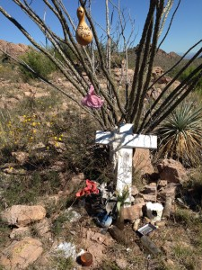 Shrine for those who have died in the desert